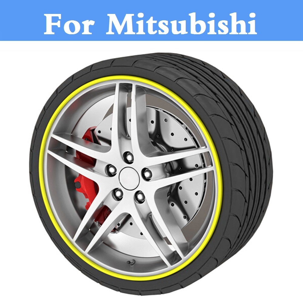 8M Car Rim Wheel Hub Protector Sticker Cover Auto Decal For Mitsubishi Galant i i-MiEV Lancer Cargo Evolution Ralliart Minica