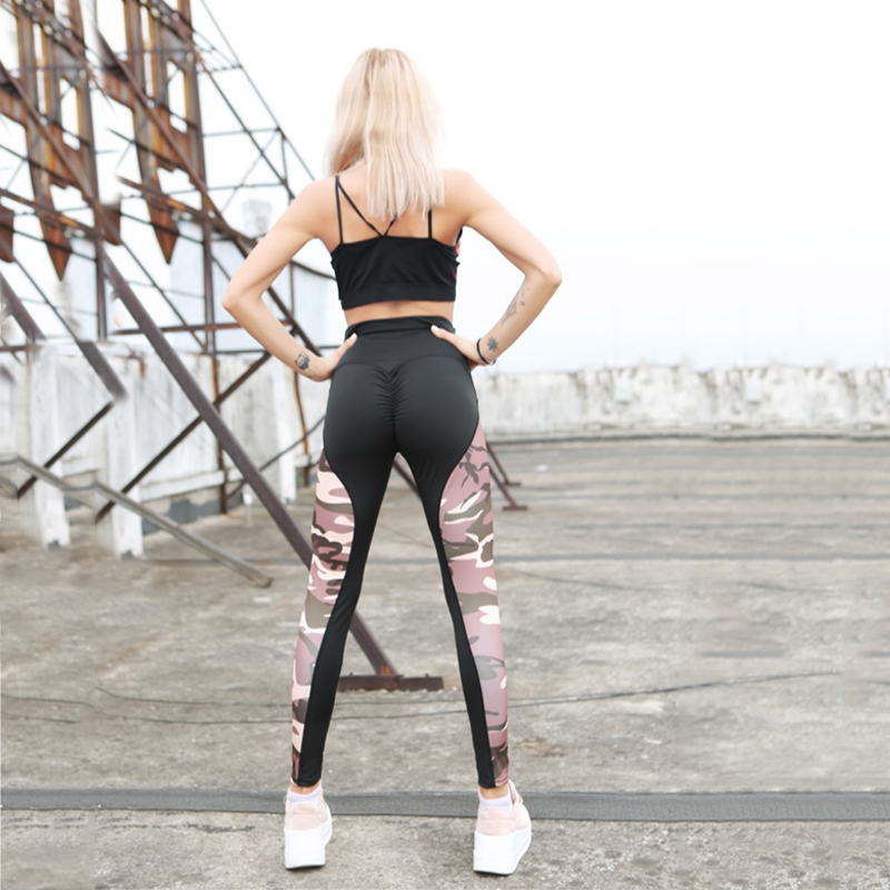 LAISIYI New Fashion 2019 Camouflage Printing Elasticity   Leggings   Camouflage Fitness Pant Legins Casual Milk   Legging   For Women