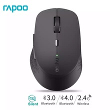 New Rapoo Multi mode Silent Wireless Mouse with 1600DPI Bluetooth 3.0/4.0 RF 2.4GHz for Three Devices Connection
