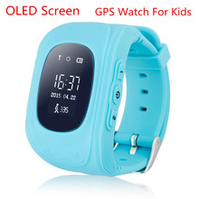 OLEDสมาร์ทเด็กปลอดภัยGPS Watchนาฬิกาข้อมือSOSโทรค้นหาสถานที่l ocatorติดตามสำหรับเด็กเด็กต่อต้านหายไปตรวจสอบเด็กของขวัญQ50