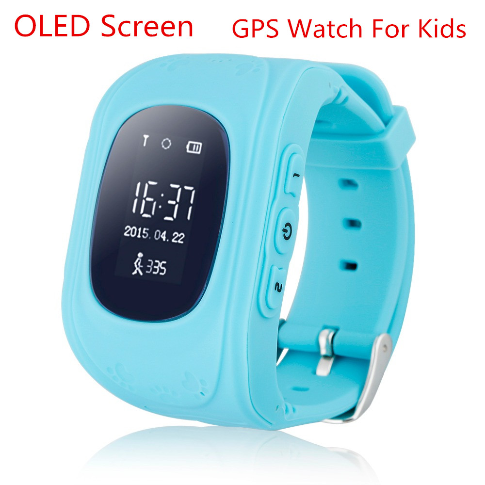 OLED font b Smart b font Kid Safe GPS font b Watch b font Wristwatch SOS