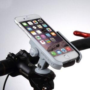 Image 1 - אלומיניום סגסוגת כידון אופניים גזע כובע הר מראה מחזיק אוניברסלי טלפון סלולרי מחזיק גריפ Stand עבור 4 6 אינץ טלפון סלולרי GPS