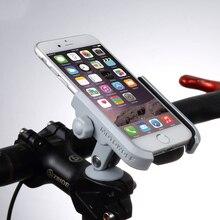 알루미늄 합금 핸들 바 자전거 줄기 모자 마운트 미러 홀더 4 6 인치 휴대 전화 gps에 대 한 유니버설 휴대 전화 그립 홀더 스탠드