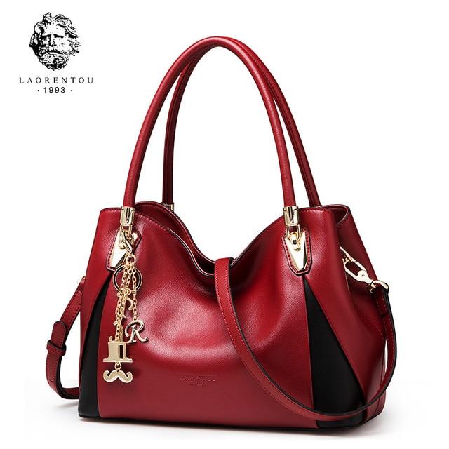 Laorentou Для женщин Сумки роскошные кожаные сумки Мода Crossbody сумка Женские сумки День Святого Валентина Присутствует дамы Повседневное сумка кошелек