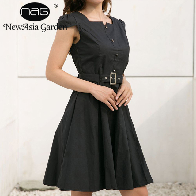 Newasia Garden Women Summer Dress Sexy Little Black Dress Club