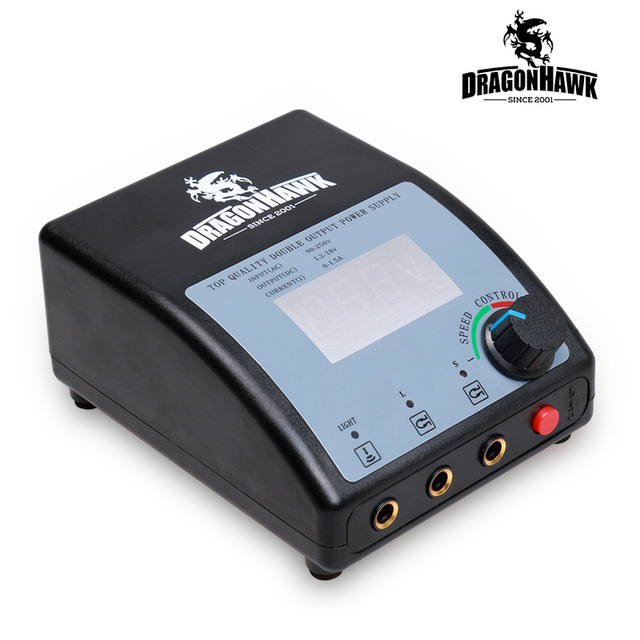 Professional Digital LCD Dual Tattoo Power Supply 110/220V