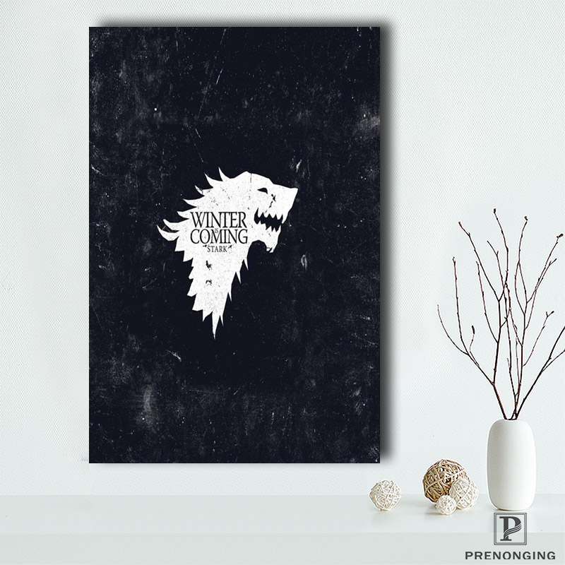 Canvas Poster Silk Fabric Removable Mural Home Decor Es  Poster Top Selling 15 Game Of Thrones Dragon Poster@190414-S-06