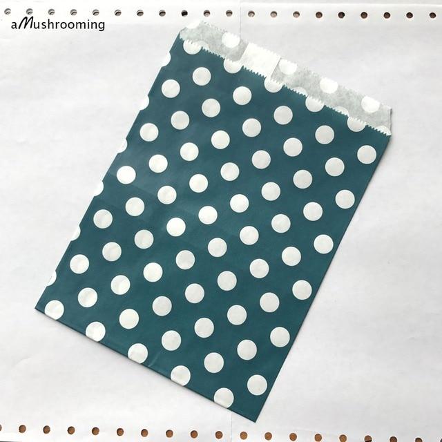 2edca37ca Saco Favor Papel Sacos do favor 25 Azul Marinho Com Bolinhas Brancas Barra  de chocolate de