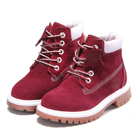 New Arrival Fashion Martin Boots Parents And Children Shoes Dull Polish Kids Girls Shoes Casual Genuine