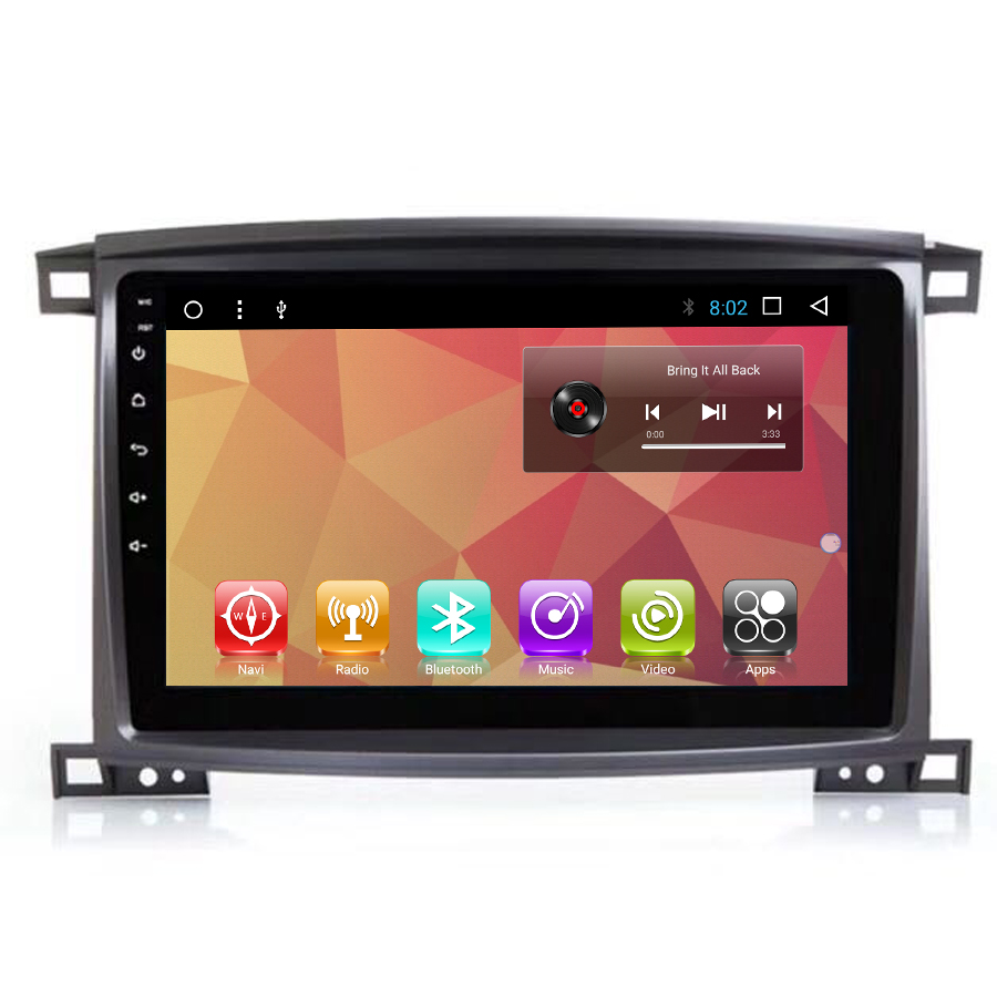 Navirider Android 7.1 car radio tape recorder quad Core 2GB RAM 32GB rom for Toyota landCRUISER LC100 2002-2007 head units GPS ...