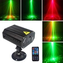 24 Patterns LED Laser Projector Laser Disco Light Voice activated Christmas DJ Disco Party Club Light Stage Effect Lighting цена в Москве и Питере