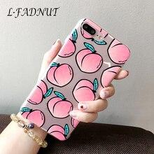 цены на For iPhone 7 Plus Case 8 6 6S Plus 5 5S SE Cover Transparent Peach Fruit Pattern TPU Soft Protective Case For iPhone X Xr Xs Max  в интернет-магазинах