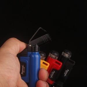 Image 5 - 2018 neue Kompakte Jet Butan Zigarre Taschenlampe Turbo Feuerzeug Gas Zigarette 1300 C Feuer Winddicht Leichter Kein Gas
