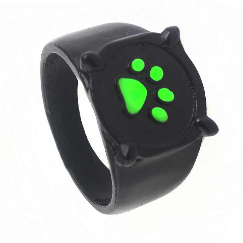 Anime Lady bug Ring Trinkets Women Chat Noir Black Cat Noel Rings Green Pawprint Men Gifts Jewelry Accessories Kids