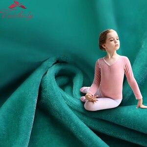 Image 5 - Z długim rękawem dla dzieci taniec baletowy trykot baleriny Party Gold Velvet odzież do tańca dla dziewczynek i małych dzieci