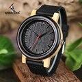 BOBO BIRD M13M14 Wenge деревянные бамбуковые часы для мужчин простой дизайн кварцевые наручные часы в деревянной подарочной коробке