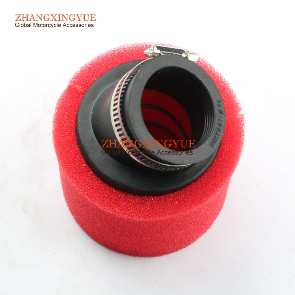 Red 42mm Foam Air Filter For GY6 150cc 157QMJ Scooter Go Kart Moped