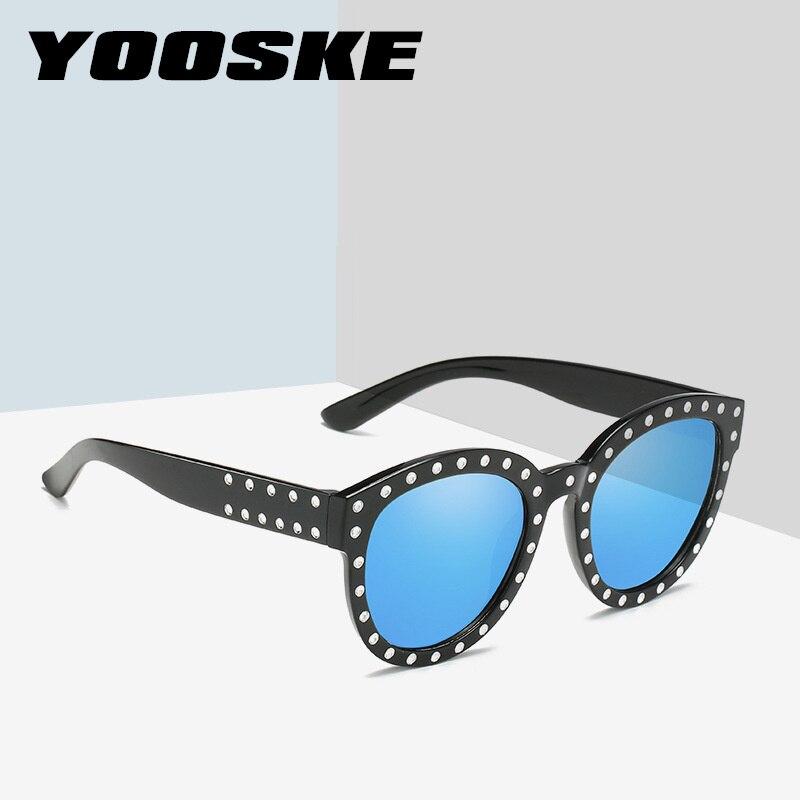 b633007a53c YOOSKE Rhinestone Sunglasses Women Brand Designer Round Cat Eye Frames Sun  Glasses Ladies Luxury Pink Shades Eyeglasses-in Sunglasses from Apparel ...