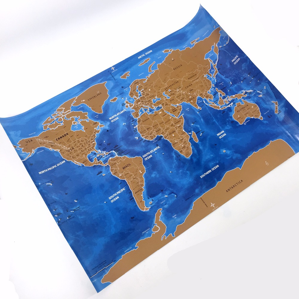 Drop shipping scrape the world map national flag map for home decor wall art craft vintage - Drop shipping home decor plan ...
