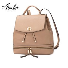 b1fe067a5 AMELIE GALANTI Feminino mochila Saco de mulheres de couro da moda saco de  escola mochila grande capacidade de multi-bolso para a.