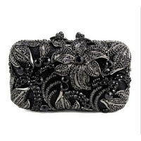 Women Handbags White Beaded Clutch Bags Wedding Party Female Evening Bags Day Clutch Pearls Small Purse Shoulder Bags gold/black