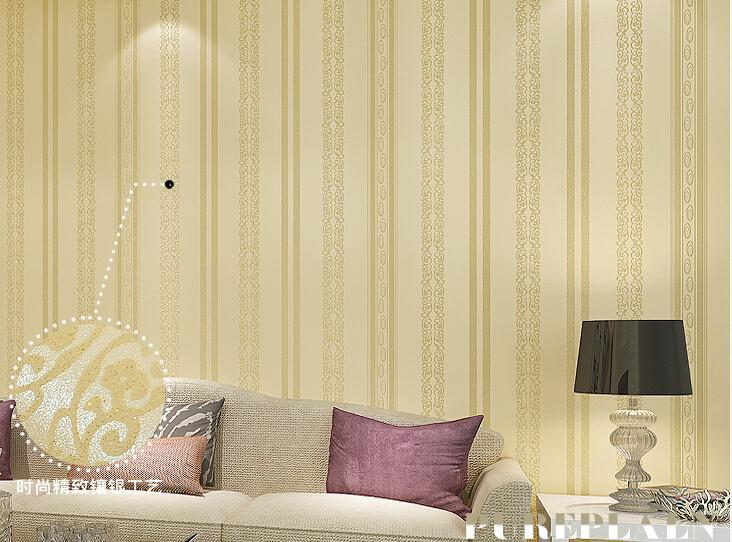 Papier peint moderne minimaliste rayures verticales tissé papier peint avec perle d'or européen salle d'étude salon lit mur papier peint