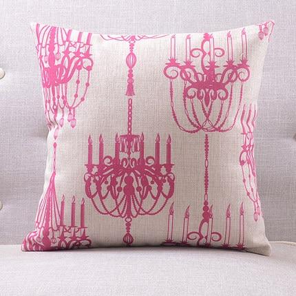 Розовая люстра подушки люстра с покрытием чехлы на подушки 45х45см наволочка 30X50 см домашний Спальня диван кровать украшения - Цвет: 1