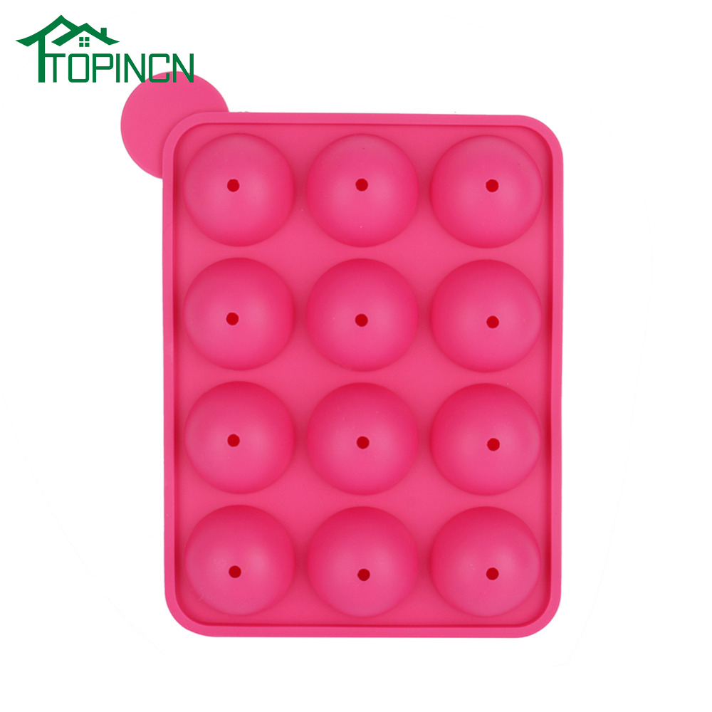 TOPINCN Pink Eco friendly Silicone Round Ball Shape Party Cake Cookie Candy Chocolate Maker Baking Tool Tray|cookie maker|baking cookiescookie tools - AliExpress