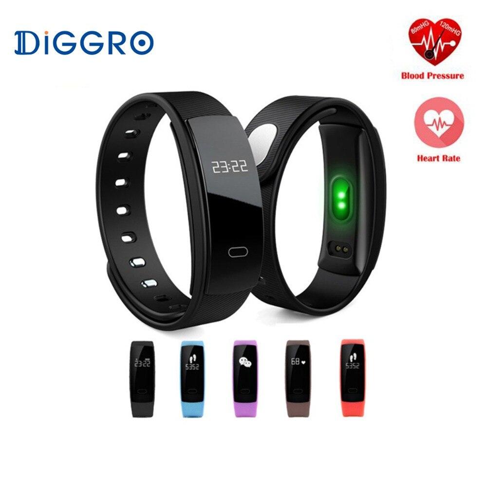 QS80 Smart Bande Mesurer La Pression Artérielle Moniteur de Fréquence Cardiaque Podomètre Montre Pulse Fitness Tracker Intelligente Bracelet Connecté