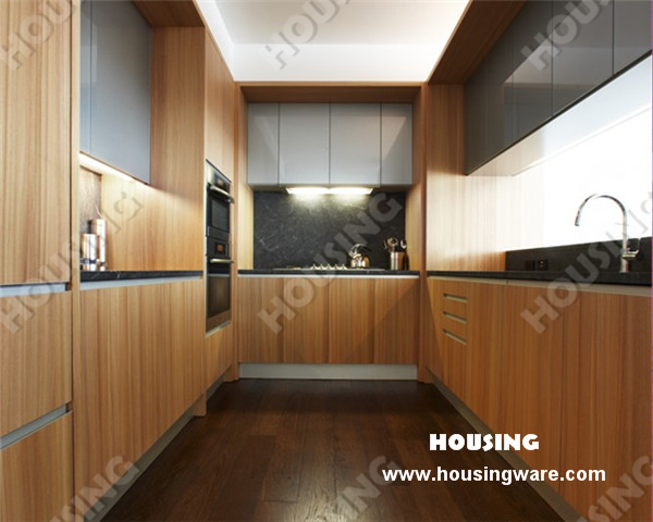 Modern Style Kitchen Cabinet Kitchen Door Finish Timber Veneer For