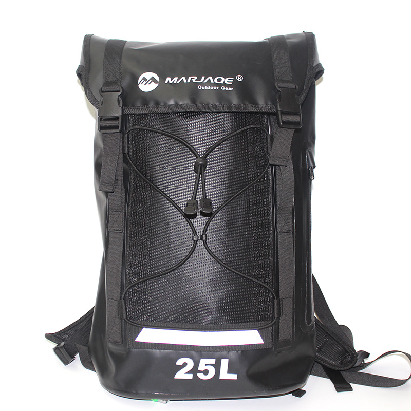 Camping & Hiking New Waterproof Dry Bag Dry Backpack For Kayaking Canoeing Floating River Tracing Sailing 500d Pvc 25l Heavy Duty Rafting Package Strong Resistance To Heat And Hard Wearing