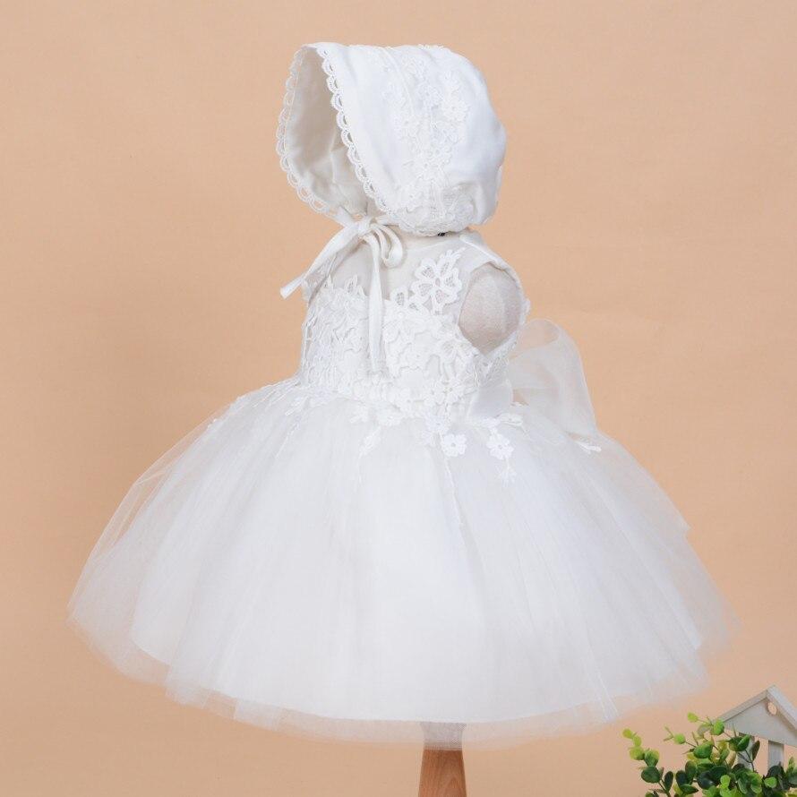 2019 Nyári új baba lány keresztség ruha kalap ball ruha szilárd - Bébi ruházat - Fénykép 2