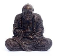 Тибетский буддизм Бронза Медь Дамо Дхарма Бодхидхарма Arhat Будда сидящий статуя