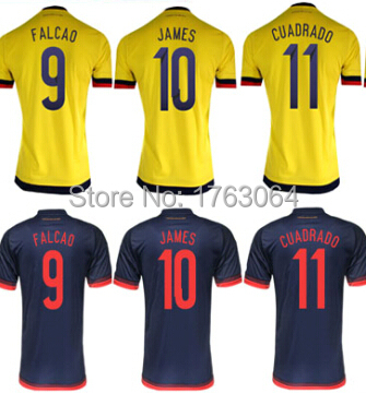 d64a049d440 2015 2016 colombia 9 falcao home yellow soccer jersey