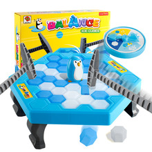 1 Set Small Save Penguin Trap Ice Breaker Game Block Toy Funny Children Kids Gift YJS Dropship fishing game toy set music rotating board 4 fishing poles game for children yjs dropship
