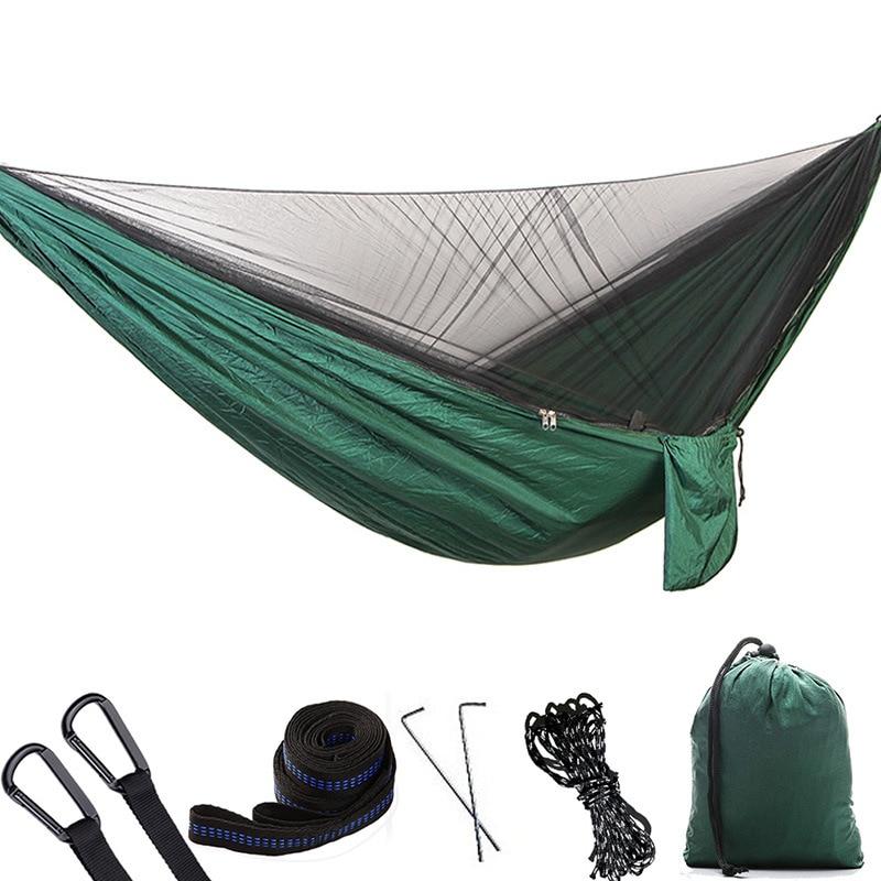 2x Oxford Waterproof Hammock Tent Bed Outdoor Parachute Hammock with Bug Net