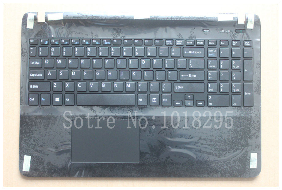 цена на US laptop keyboard for sony Vaio SVF15 FIT15 SVF151 SVF152 SVF153 SVF1541 SVF15E keyboard with frame Palmrest Touchpad Cover