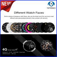 2018 Novo de Alta Qualidade 4G Relógio Inteligente Android 7.0 1 GB + 16 GB 580 mAh WIFI GPS de Mão-free chamada smartwatch Pedômetro monitor de freqüência cardíaca