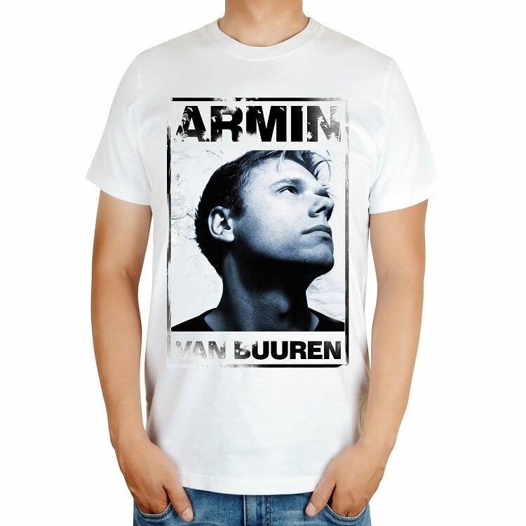 4 вида Armin Van Buuren бренд певица диджейская футболка белый mma с принтом хлопковая футболка музыка живой Фитнес camisetas hombre - Цвет: Синий