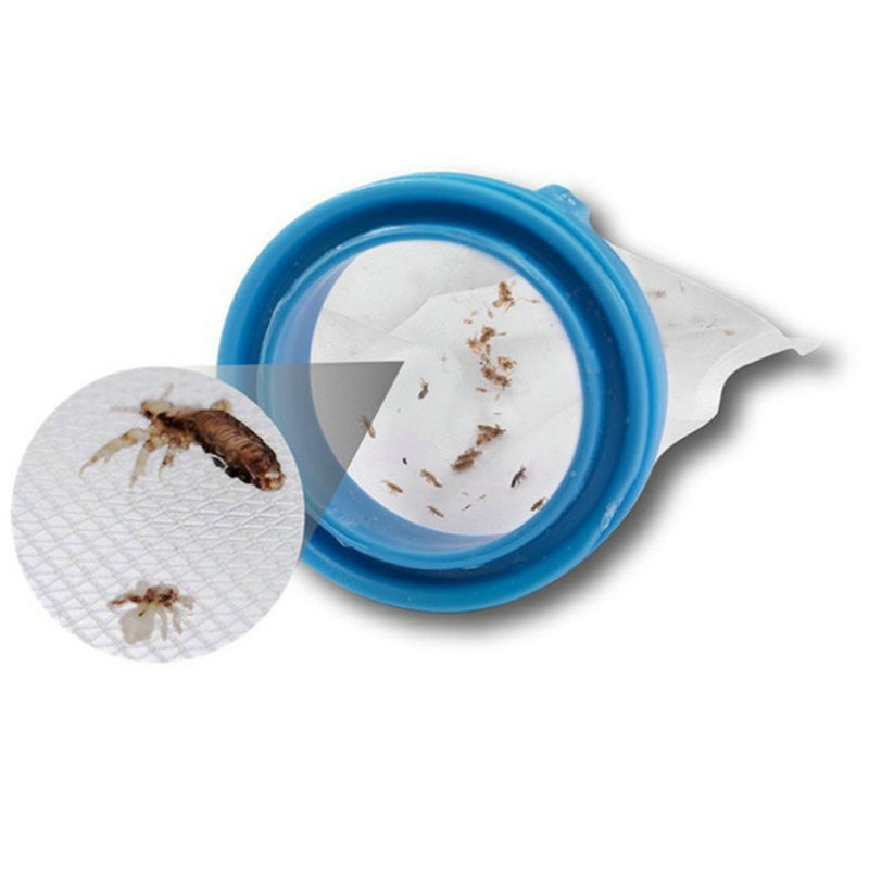 1PC Filter Bag Replacement For Pet Electric Flea Comb Cat Dogs Head Lice Electric Comb Filter Mesh Bag Accessories Pet Supplies מסרק כינים