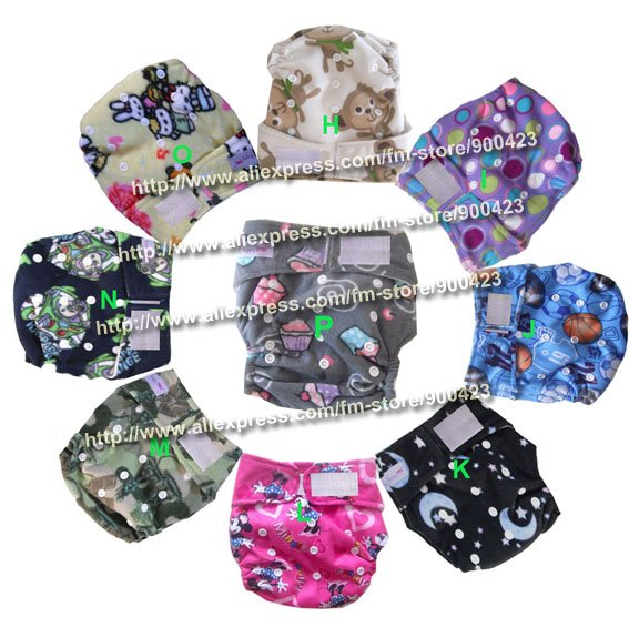 -washable baby cloth diaper Nappies 9pcs cloth diaper+9pcs inserts For weighs 8.8-37.5pounds