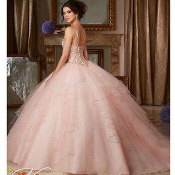 Blush Puffy Cheap Quinceanera Dresses  1