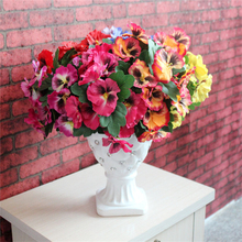 1x Bouquet Artificial Simulation Silk Flower Pansy Plant Wedding Party Home Hotel Table Decoration