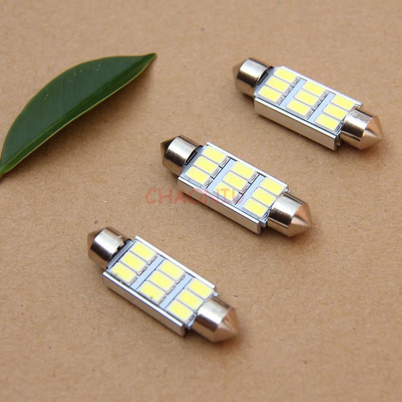 100 шт 36 мм 39 мм 42 мм C5W C10W 9 SMD 5630 5730 светодиодный CANBUS Нет Ошибка автомобилей ламповая гирлянда автомобильный плафон внутреннего освещения ламп...