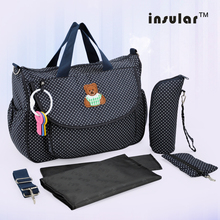 лучшая цена Insular Hot Sale Baby Diaper Bag sac a langer maternite Nappy Bag For Mommy And Baby Bag Changing wet Bag bolsa maternidade