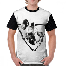 лучшая цена Hyena T Shirt Schrodinger Hyena T-Shirt 5x Fun Graphic Tee Shirt Printed Beach Male Short Sleeve 100 Percent Polyester Tshirt