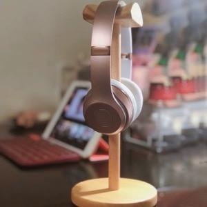 Image 3 - IMTTSTR uniwersalny stojak na słuchawki z prawdziwego drewna uchwyt na uchwyt do wieszaka na słuchawki
