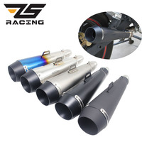 ZS Racing 51mm Modified Motorcycle Scooter Exhaust Pipe Moto For M4 Muffler Motocross Dirt Bike Cross ATV Escape GP Pot Slip on