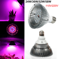 Newest hydroponics Lighting 24W 36W 52W 58W E27 RED/BLUE SMD5730 24 36 52 58 LEDs Hydroponic LED Plant Grow Lights Free Shiping