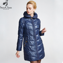 Snowclassic Female Winter Jacket 2016 Very Warm Winter Coats Hooded Jacket Parka Womens Quilted Coat 14392